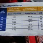 Horarios y precios de los trenes