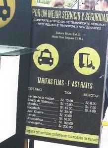 precios de los taxis del mismo aeropuerto