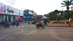 PLaza de Tarapoto .. ciudad de motos