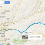 Mapa para llegar de Lima a Antioquia